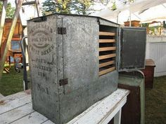 galvanized pie safe - industrial strength and size!