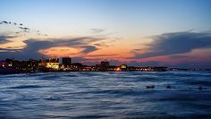 Sunset - Mamaia beach, Romania Western Coast, Black Sea, Old City, Places To Travel, New York Skyline, Beautiful Places, Europe, Explore, Sunset
