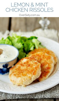 Lemon & Mint Chicken Rissoles - perfect with salad, a burger or even ...