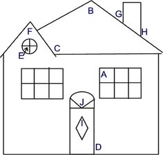 Angles worksheet: Acute, Obtuse, Right- 'House of Angles