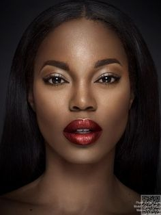 11. Ruby Red - 27 Lipstick #Colors That Look Amazing on Dark #Skinned Women ... → #Makeup #Lipstick
