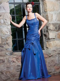 Iridescent Taffeta Two Straps Neckline Asymmetrical Pleating Ruched Bodice A-line Bridesmaids Dress