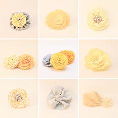 handmade + yellow hair accessories