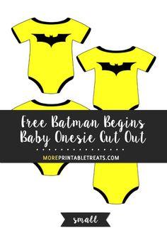 Free Batman Begins Baby Onesie Template  Small Size  Baby Shower