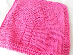 Flamingo dish cloth wash cloth in hot pink, dishcloth, washcloth, dishrag,