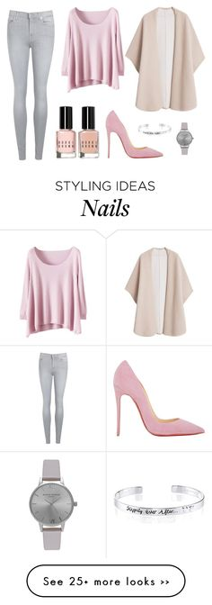 """Untitled #120"" by lirazmiz on Polyvore featuring MANGO, Christian Louboutin, 7 For All Mankind, Bobbi Brown Cosmetics, Olivia Burton and Disney"