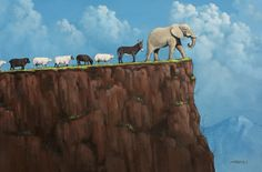 """""""Over the Edge"""" Painted by Tim Gagnon in 2010. Need I say More!!!"""