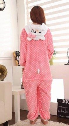 Sweet pajamas cat cosplay unisex adult onesie jumpsuits costume