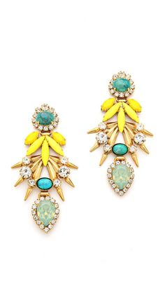 Elizabeth Cole Strieker Earrings fashion, style, color combos, strieker earring, accessori, elizabeth cole, chandelier earrings, statement earrings, cole jewelri