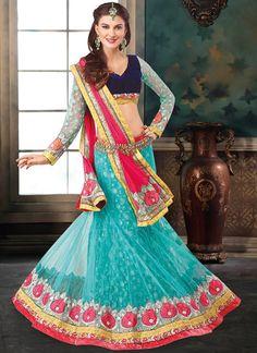 Superb Patch Border and Resham Work A Line Lehenga Choli | Wedding Lehenga Choli | Bridal Lehenga Choli | Designer Lehenga Choli | Item Code: 3969