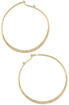 Gold Heiress Hoops Earrings Large Gold & Stone Hoop Earrings  #Handmade #Hoop