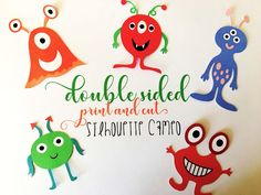 Double Sided Print and Cut Silhouette CAMEO Designs (Silhouette School) Print And Cut Silhouette, Silhouette School Blog, Silhouette Cameo Tutorials, Silhouette Cameo Machine, Silhouette Vinyl, Silhouette Projects, Silhouette Studio, Silhouette Portrait, Diy Craft Projects