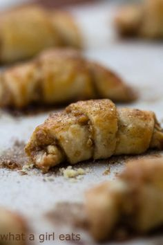 Gluten free cinnamon and walnut crescent cookies (Rugelach)