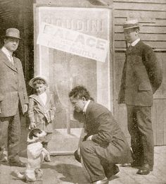 Houdini in front of a Palace Poster