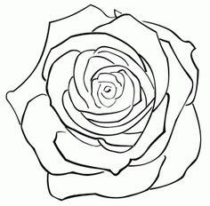 rose free digital stamp