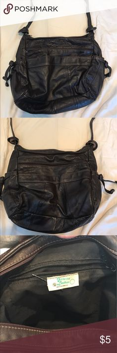 Brown leather purse Brown leather purse with longer handle so that it can be worn over the shoulder. Bags Shoulder Bags