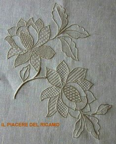 This Pin was discovered by Ann Hardanger Embroidery, White Embroidery, Vintage Embroidery, Embroidery Stitches, Embroidery Patterns, Hand Embroidery, Drawn Thread, Thread Work, Advanced Embroidery