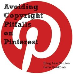 "Avoiding Copyright Pitfalls on Pinterest - There have been a lot of discussion about Pinterest and the rights of photographers, designers and copyright holders. Although Pinterest has updated their Terms of Service, there are still concerns about protecting the rights of others while still wanting to showcase their work and support them. I've created some ""best practices"" based on what the law allows. Hope you find this helpful."
