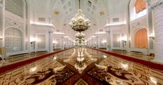 The Hall of the Order of St. George in the Grand Kremlin Palace                                                                                                                                                                                 More