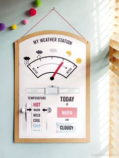 Must-Try Weather Activities for Kids - Playdough To Plato  Use more images to make it kid-friendly and measure degrees of temperature, etc.