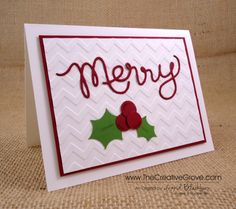 CAS Expressions Thinlits Christmas Card by nyingrid - Cards and Paper Crafts at Splitcoaststampers