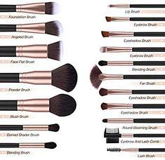 estas brochas esenciales son perfectas para líquidos, polvos o cremas para hacer una aplicación impecable de maquillaje facial y de ojos. El kit de brochas incluye pinceles de contorno, pinceles de detalles, brochas de base, etc. para uso diario. Best Makeup Tips, Makeup Guide, Makeup Tools, Makeup Hacks, Best Makeup Products, Makeup Ideas, Makeup 101, Make Up Products, Cheap Makeup