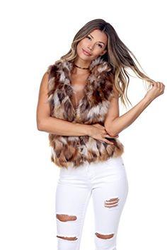 1b6bb1dd227b FashionPosh D569 Faux Fur Vest. queenar · Women s Coat Plus Size