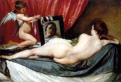 Vênus ao Espelho (La Venus del Espejo) - Diego Velázquez, 1647-51 - Madrid, Espanha