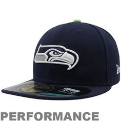 New Era Seattle Seahawks Youth On-Field Performance 59FIFTY Fitted Hat - College Navy