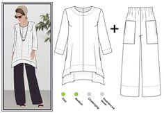 Daisy designer tunic-top + pant pattern