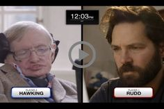 Paul Rudd and Stephen Hawking Face Off in a High-Stakes Game of Quantum Chess  #stephen #hawking #faces #paul #rudd #epic #chess #match #feat #keanu #reeves