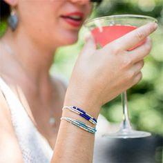 How to make summery seed bead bracelets.