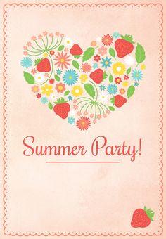 #Summer #Party Invitation - Free Printable Summertime Invitation
