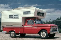 Woodalls Open Roads Forum: Truck Campers: Our Camping History 1963 to 1975 Vintage Pickup Trucks, Antique Trucks, 4x4 Trucks, Cool Trucks, Vintage Motorhome, Vintage Rv, Vintage Travel Trailers, Vintage Campers, Pickup Camping