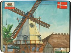 Solvang sketch by Chandler O'Leary