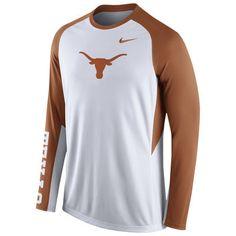 Nike White Texas Longhorns 2015-2016 Elite Basketball Pre-Game Shootaround Long Sleeve Dri-FIT Top