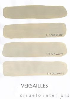 Varying tints possible with Chalk Paint® decorative paint by Annie Sloan. A combination of Versailles & Old White by Ciruelo Interiors.
