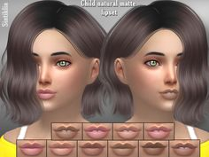The Sims Resource: Sintiklia – Child natural matte lipset • Sims 4 Downloads