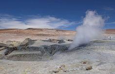 Sol de Mañana geysers - Bolivia, a mud geyser field