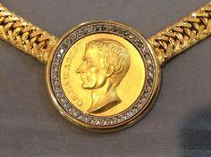 Vintage BEN AMUN - CAESAR ADEST Swarovski Crystal Gold Plated Deco Necklace