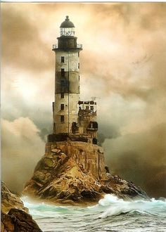 RUSSIAN DIALECT. HARD TO UNDERSTAND BUT THE LIGHTHOUSE IS A BEAUTY. THE HOKEY POKEY MAN AND AN INSANE HAWKER OF FISH BY CONNIR DURAND,. AVAIALABLE ON AMAZON KINDLE