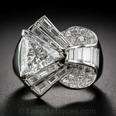 Art Deco/Retro Diamond Cocktail Ring