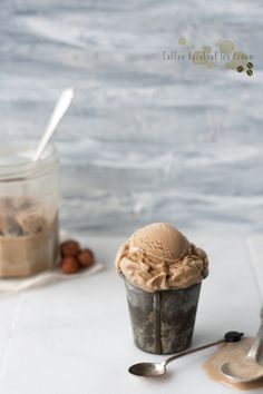 Coffee Hazelnut Icecream! would love to make this over the summer -> wish i had an ice cream maker!