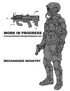 mech infantry concept art by toiletbear.deviantart.com on @deviantART