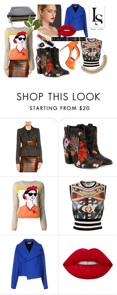 """""""An Eclectic Kind Of Day"""" by look-shop on Polyvore featuring mode, Tom Ford, Laurence Dacade, Alice + Olivia, Givenchy, Balenciaga, Alexander McQueen, Chanel et Lime Crime"""