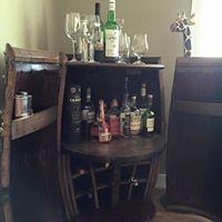 Wine barrel bar Wine Barrel Bar, Liquor Cabinet, Storage, Wall, Furniture, Home Decor, Products, Purse Storage, Decoration Home