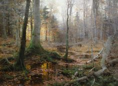 """William Bliss Baker. """"Fallen Monarchs"""" One of my favorite paintings. The artist died tragically when he was only 27."""