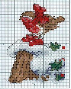 Cross Stitch Bird, Cross Stitch Animals, Cross Stitch Designs, Cross Stitch Embroidery, Cross Stitch Patterns, Cross Stitch Christmas Ornaments, Christmas Embroidery, Christmas Cross, Snoopy Christmas