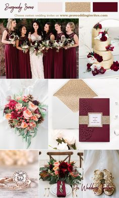 Champagne wedding colors - Whatever souls are made of, his and mine are the same —Emily Brontë Gold And Burgundy Wedding, Champagne Wedding Colors, Maroon Wedding, Fall Wedding Colors, Wedding Color Schemes, Wine Colored Wedding, Burgundy Wedding Colors, Wedding Bouquets, Wedding Dresses