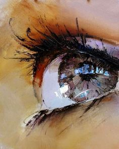 Impressionistic Iris Illustrations - Pavel Guzenko Renders Alluring Eyes in a Classic Painting Style (GALLERY)